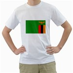 Zambia Flag White T-Shirt