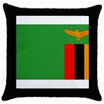 Zambia Flag Throw Pillow Case (Black)