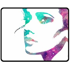 Cosmic Face Fleece Blanket (medium) by LoveModa
