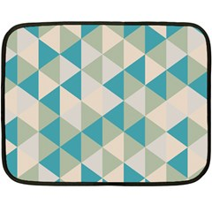 Triangles Mini Fleece Blanket (two Sided) by LoveModa