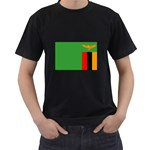Zambia Flag Black T-Shirt