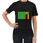 Zambia Flag Women s Black T-Shirt