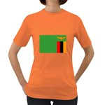 Zambia Flag Women s Dark T-Shirt