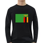 Zambia Flag Long Sleeve Dark T-Shirt
