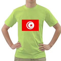 Tunisia Flag Green T Front