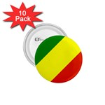 Republic of Congo Flag 1.75  Button (10 pack)