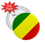 Republic of Congo Flag 2.25  Button (100 pack)