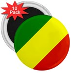Republic of Congo Flag 3  Magnet (10 pack)