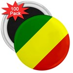Republic of Congo Flag 3  Magnet (100 pack)