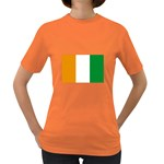 Cote d Ivoire (Ivory Coast) Flag Women s Dark T-Shirt