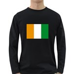 Cote d Ivoire (Ivory Coast) Flag Long Sleeve Dark T-Shirt