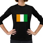 Cote d Ivoire (Ivory Coast) Flag Women s Long Sleeve Dark T-Shirt
