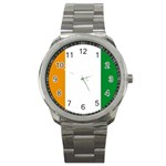 Cote d Ivoire (Ivory Coast) Flag Sport Metal Watch