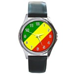 Republic of Congo Flag Round Metal Watch