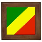 Republic of Congo Flag Framed Tile
