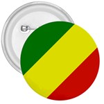 Republic of Congo Flag 3  Button