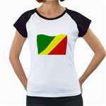 Republic of Congo Flag Women s Cap Sleeve T