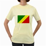 Republic of Congo Flag Women s Yellow T-Shirt