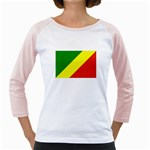 Republic of Congo Flag Girly Raglan