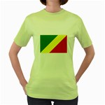 Republic of Congo Flag Women s Green T-Shirt