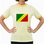 Republic of Congo Flag Women s Fitted Ringer T-Shirt