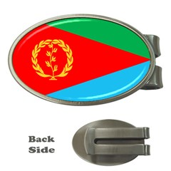 Eritrea Flag Money Clip (Oval) from ArtsNow.com Front