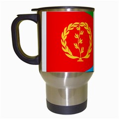Eritrea Flag Travel Mug (White) from ArtsNow.com Left
