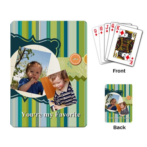 Kids By Kids   Playing Cards Single Design   80phps4gukor   Www Artscow Com Back