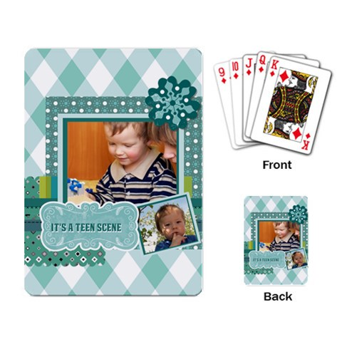 Kids By Kids   Playing Cards Single Design   Ojm0pkf9wpvz   Www Artscow Com Back