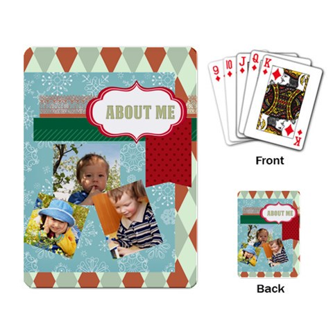 Kids By Kids   Playing Cards Single Design   8he4gn2ako7z   Www Artscow Com Back