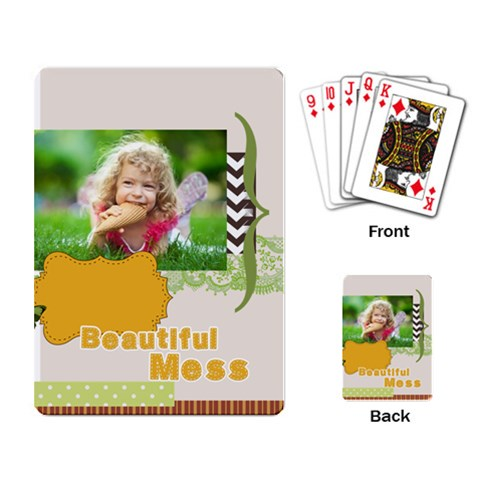 Kids By Kids   Playing Cards Single Design   6krdx9p4fzz8   Www Artscow Com Back