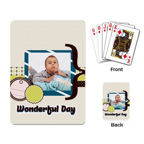 Kids By Kids   Playing Cards Single Design   Y0p8a9t48oal   Www Artscow Com Back