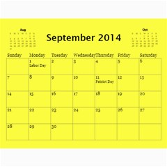 Жорик By Vitaliya   Wall Calendar 11  X 8 5  (12 Months)   Lk9uu8q56liw   Www Artscow Com Sep 2014