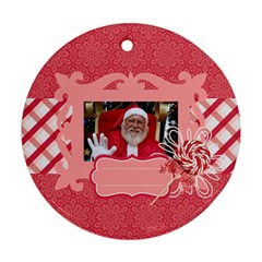 Candy Cane Santa Round Ornament (2 Sides) By Mikki   Round Ornament (two Sides)   Ycgew7f2bff5   Www Artscow Com Back
