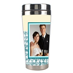 Wedding By Paula Green   Stainless Steel Travel Tumbler   K1pae0kditpg   Www Artscow Com Left