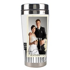 Wedding By Paula Green   Stainless Steel Travel Tumbler   5dq0nzvh11z7   Www Artscow Com Left