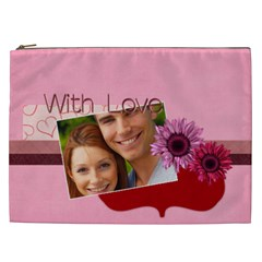 Love By Joely   Cosmetic Bag (xxl)   Riuy14of6092   Www Artscow Com Front