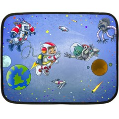 Interplanetary High Five/three Mini Fleece Blanket (two Sided) by Contest1732250