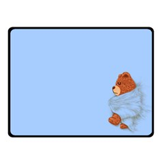 Ssssssttttttt    My Teddy Was Sleeping  Fleece Blanket (small)