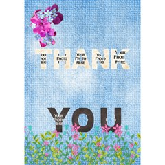 Spring Thank You 3d By Lisa Minor   Thank You 3d Greeting Card (7x5)   7ro3rttxbyew   Www Artscow Com Inside