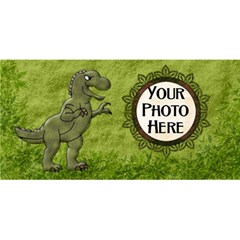 Prehistoric Party 3d By Lisa Minor   Party 3d Greeting Card (8x4)   6syqlmpd45ux   Www Artscow Com Front