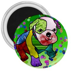 Pug 3  Button Magnet by Siebenhuehner
