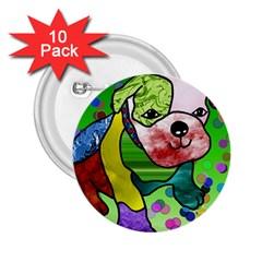 Pug 2 25  Button (10 Pack) by Siebenhuehner