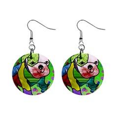 Pug Mini Button Earrings by Siebenhuehner