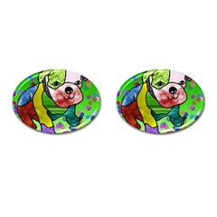 Pug Cufflinks (oval) by Siebenhuehner