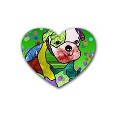 Pug Drink Coasters (heart) by Siebenhuehner