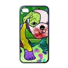 Pug Apple Iphone 4 Case (black) by Siebenhuehner