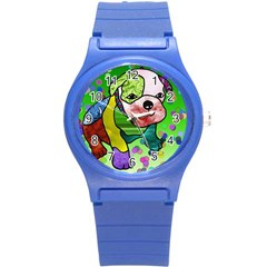 Pug Plastic Sport Watch (small) by Siebenhuehner