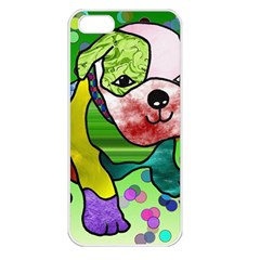 Pug Apple Iphone 5 Seamless Case (white) by Siebenhuehner