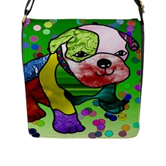 Pug Flap Closure Messenger Bag (large) by Siebenhuehner